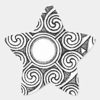 Celtic design 7 star sticker