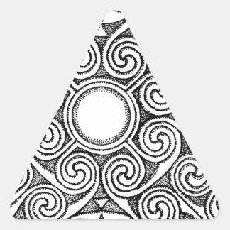 Celtic design 7 triangle sticker