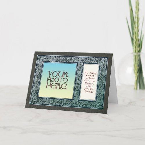 Celtic Design Border  Photo Frame Greeting Card