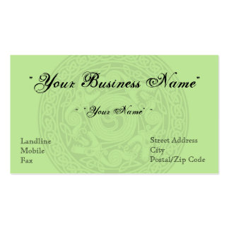 Celtic Design Business Card - Light Irish Moss
