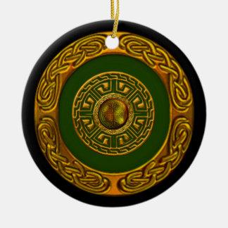 Celtic Design Ceramic Ornament