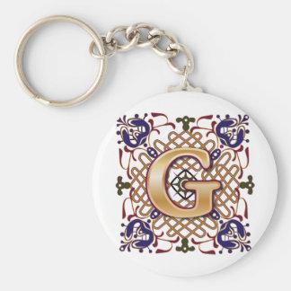 Celtic Design Letter G Keychain