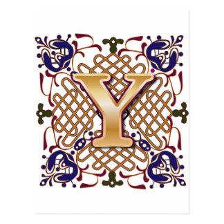 Celtic Design Letter Y Postcard