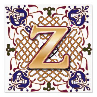 Celtic Design Letter Z Invitations