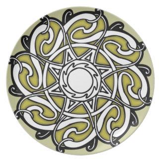 celtic design plate