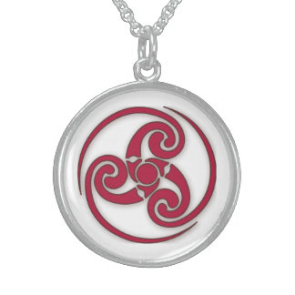 Celtic Design Round Pendant Necklace