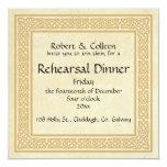 Celtic Design Wedding Rehearsal Dinner Card