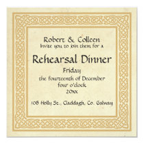 Celtic Design Wedding Rehearsal Dinner Invitation