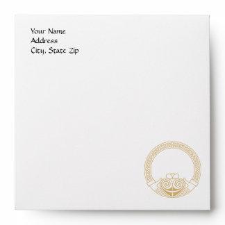 Celtic Design with Claddagh Wedding Envelope