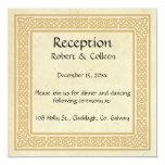 Celtic Design with Claddagh Wedding Reception. Card
