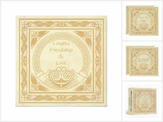 Celtic Design with Claddagh Wedding Suite