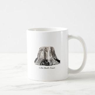 Celtic Devil's Tower Classic White Coffee Mug