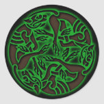 Celtic Dog Chase Stickers