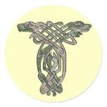 Celtic Dogs Classic Round Sticker