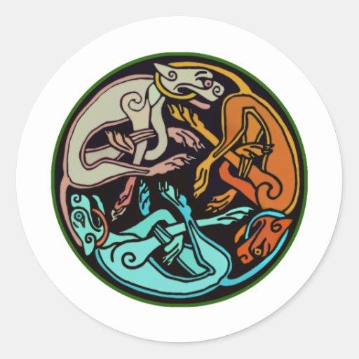 Celtic Dogs Sticker