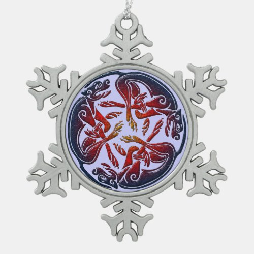 Celtic dogs traditional ornament digital art
