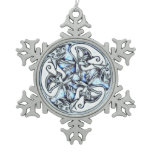 Celtic dogs  traditional ornament frozen ice