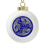 Celtic dogs  traditional ornament gold and silver