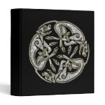 Celtic dogs traditional ornament gold and silver binder
