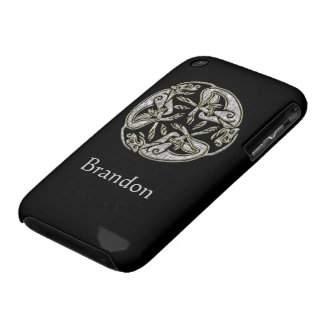 Celtic dogs traditional ornament gold and silver Case-Mate iPhone 3 case
