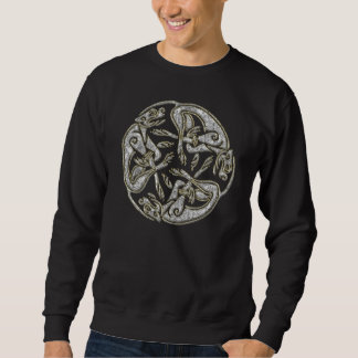 Celtic dogs  traditional ornament gold and silver pull over sweatshirts