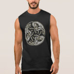 Celtic dogs  traditional ornament gold and silver sleeveless shirt