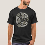 Celtic dogs  traditional ornament gold and silver T-Shirt