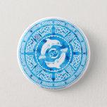 Celtic Dolphin Button