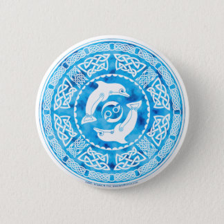 Celtic Dolphin Button