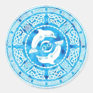 Celtic Dolphin Classic Round Sticker