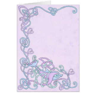 Celtic Dolphin Greeting Card