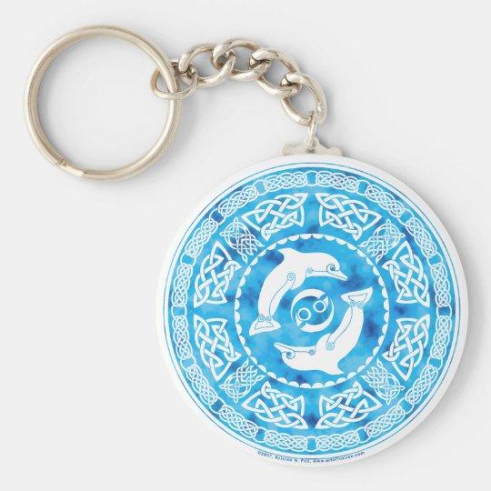 Celtic Dolphin Keychain