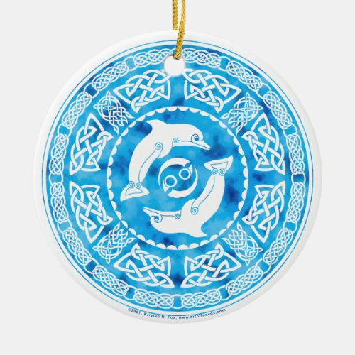 Celtic Dolphins Ornament