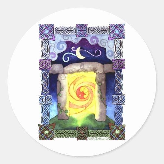 Celtic Doorway Classic Round Sticker
