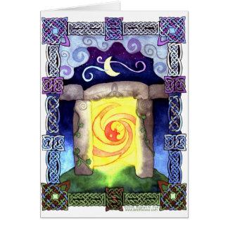 Celtic Doorway Greeting Card