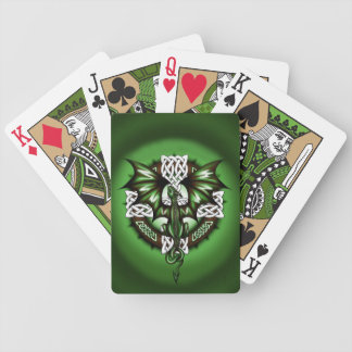 celtic Dragon Bicycle Playing Cards
