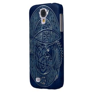 Celtic Dragon Blue Samsung Galaxy S4 Cover