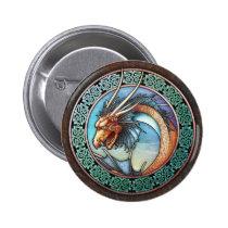 Celtic Dragon Button