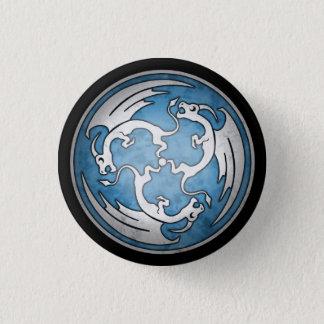 Celtic Dragon Button - Blue