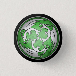 Celtic Dragon Button - Green