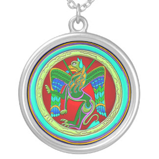 Celtic Dragon Charm Necklace