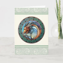 Celtic Dragon Design Greeting Card