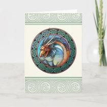 Celtic Dragon Design Greeting Card
