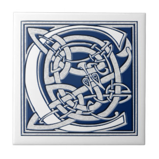 Celtic Dragon Initial C Tile
