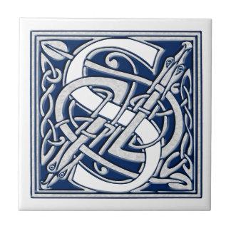 Celtic Dragon Initial S Tile