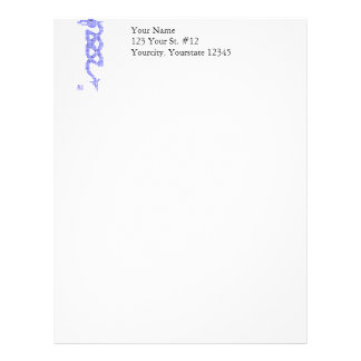 Celtic Dragon Knot Tribal Pixel Art Letterhead