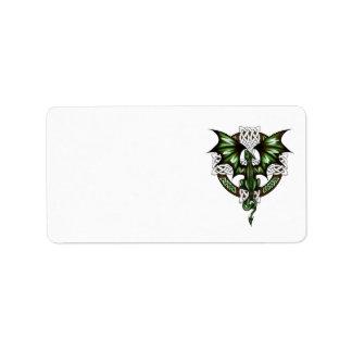 Celtic Dragon Label
