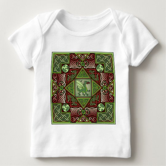 Celtic Dragon Labyrinth Baby T-Shirt