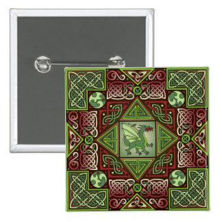 Celtic Dragon Labyrinth Button