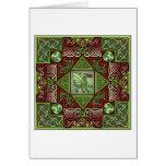Celtic Dragon Labyrinth Card